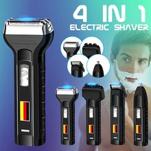 Becornce 4-in-1 Rechargeable Electric Beard Shaver Hair Clipper Nose Hair Trimme