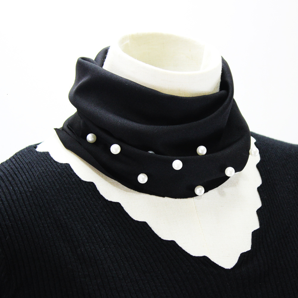 False Collar Decoration Lead Dickie Nail Fake Pearl High Detachable Shirt Women New Free Shipping