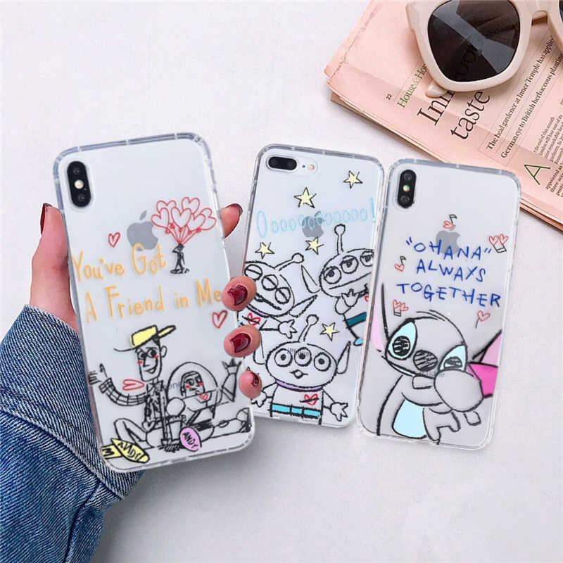 Stitch Coque For IPhone Xs 7 6 6s Plus Case IMD TPU Cover Fundas