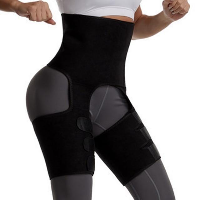 Plus Size Waist Trainer Belt Women High Waist Body Shaper Leg Sweat Shapers Thigh Trimmers Adjustable Sauna Belt Hip Shapewear 2