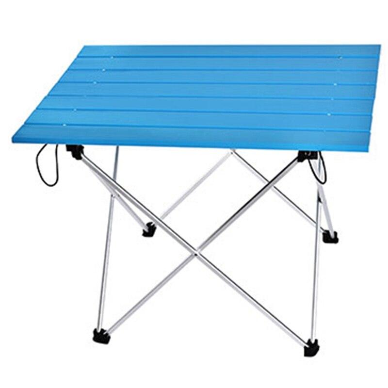 Taşınabilir masa katlanabilir katlanır kamp yürüyüş masa seyahat açık piknik alüminyum süper hafif title=