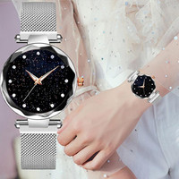 Luxury women watches ladies magnetic starry sky clock fashion diamond woman Quartz watches relogio feminino zegarek damski 2019