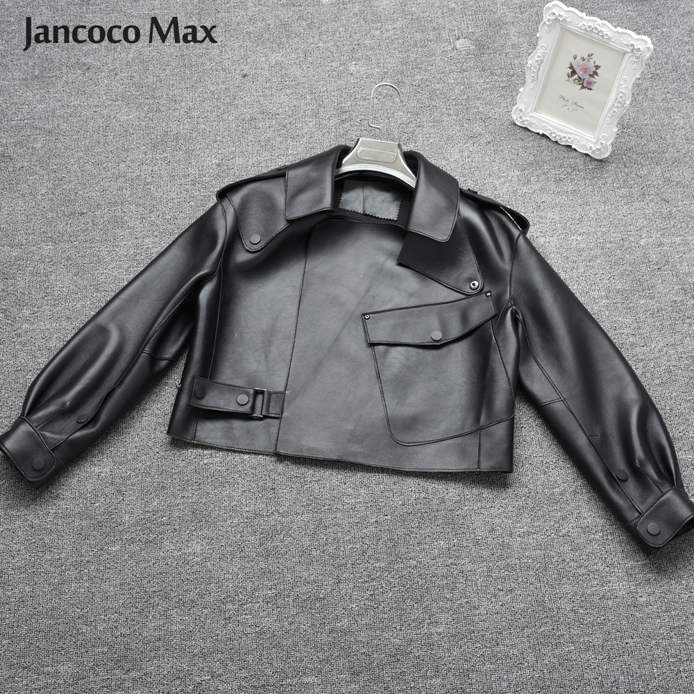 Image 3 - Women's Real Sheepskin Leather Jackets Top Quality Genuine Leather Coat Fashion Jackets Lady New Arrival S7547-in Leather Jackets from Women's Clothing