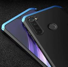 Metal Aluminum Bumber For redmi note 8 pro Case Silicone Hybrid Back Cover For Redmi Note 8 7 6 5 Pro Mi9 Mi8 Cases Coque Fundas