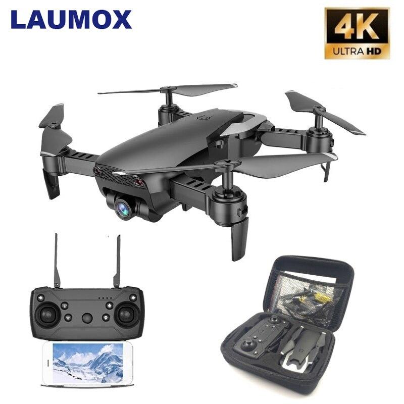 LAUMOX M69 RC Drone With 4K Wide-angle Camera WiFi HD Camera Collapsible Mini FPV Helicopter Drones VS VISUO XS809HW E58 Drone