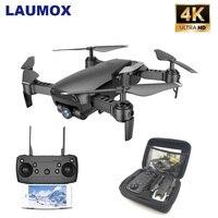 LAUMOX M69 RC Drone with 4K Wide angle Camera WiFi HD Camera Collapsible Mini FPV Helicopter Drones VS VISUO XS809HW E58 Drone