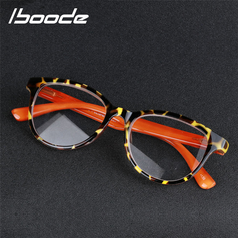 IBOODE Leopard Reading Glasses Women Men Presbyopic Eyeglasses Female Male Hyperopia Eyewear Unisex Magnifying Spectacles