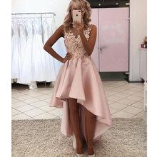2021 Новый 3d Цветы Высокий Низкий розовые платья для выпускного