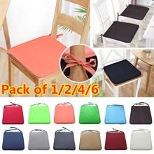 Cushion Sofa Dining-Chair Garden-Fabric Candy-Colors Creative European Plain 37--37cm