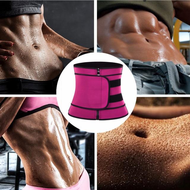 Feelingirl Neoprene  Waist Trainer Body Shaper Modeling Strap Sauna Shaper Butt Lifter Fitness Corset Sweat Slimming Belt 3