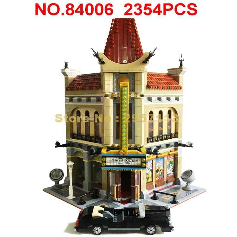 15006 2354 шт создатель городской улица дворцовый кинотеатр 5 строительных блоков игрушка