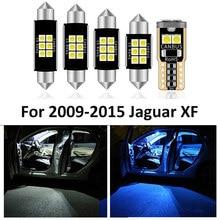 13 adet araba beyaz iç LED ışık ampul paketi kiti için 2009 2010 2011-2015 Jaguar XF harita Dome lisans lambası araba aksesuarları