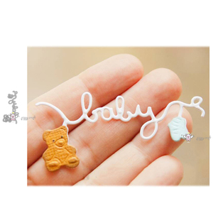 Mmao Crafts Metal Steel Cutting Dies New Baby letter bear socks Stencil For DIY Scrapbooking Paper/photo Cards Embossing Dies(China)