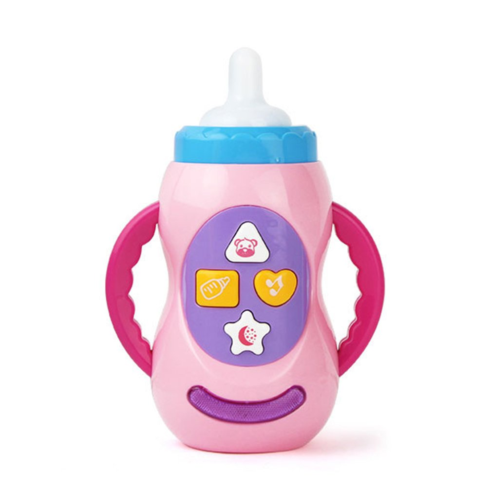 Baby Kids Children Safe Sound Music Light Milk Bottle Learning Musical Feeding Tool Educational Baby Bottle Toys Sound Toys