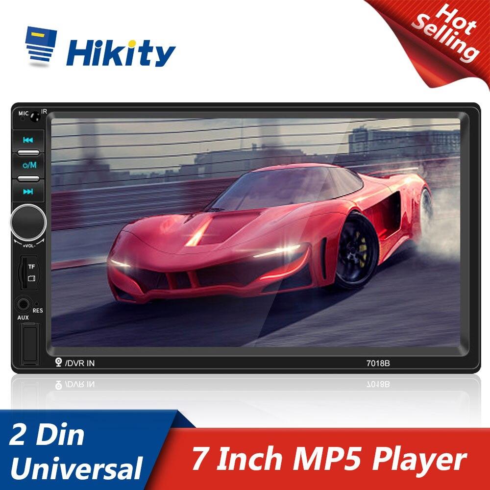 Автомагнитола Hikity 7018B, мультимедийный MP5-плеер 7 дюймов с радио и зеркальным соединением, для Volkswagen, Nissan, Hyundai, Kia, Toyota, Honda, типоразмер 2 Din