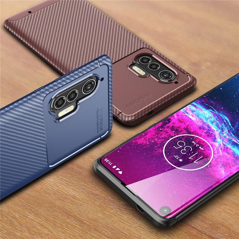 For Motorola Edge Plus Case Moto Edge Plus Bumper Soft Carbon Fiber Housings Back Cover For Motorola Edge+ Phone Cases 6.67''