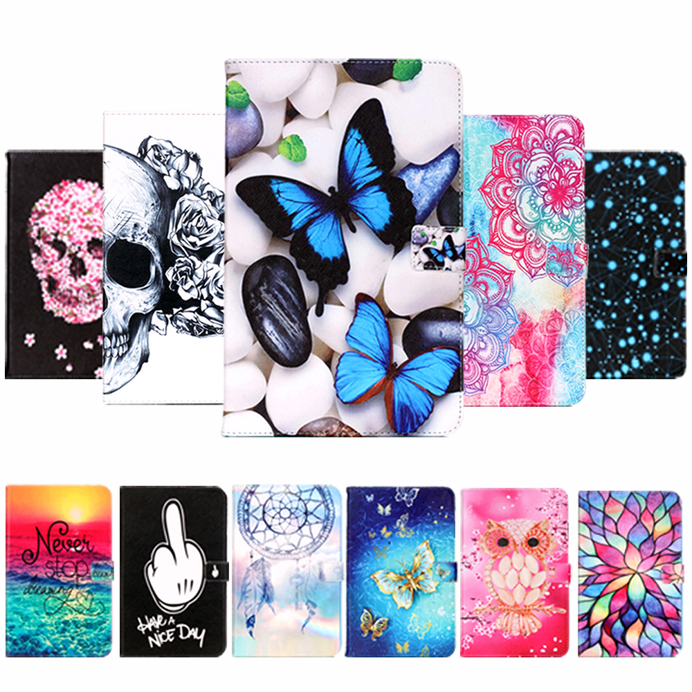 Fashion Flower Painted Case Cover for <font><b>Samsung</b></font> <font><b>Galaxy</b></font> <font><b>Tab</b></font> <font><b>A</b></font> A6 <font><b>10.1</b></font> 2016 <font><b>T580</b></font> T585 T580N Case <font><b>Funda</b></font> <font><b>Tablet</b></font> Stand Skin Shell image