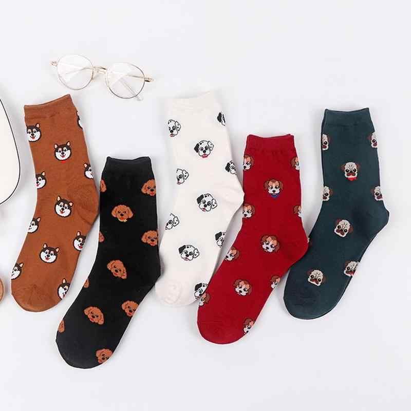 2019 yeni moda kore karikatür köpek sevimli kadın çorap kış sıcak pamuk kalın peluş çorap kadın sevimli çorap kız hediyeler