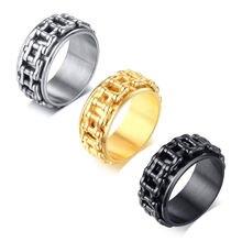 Мужское Золотое кольцо из нержавеющей стали классическое мужское
