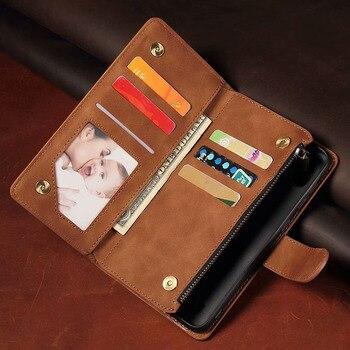 Перейти на Алиэкспресс и купить Роскошный кожаный бумажник для Sharp Aquos Sense3 Plus/SH-M11 чехол Магнитный Флип-кошелек с подставкой для карт