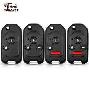 Dandkey Modified 2/3/4 Button Flip Remote Car Key Case For Honda Accord Pilot Cr-V Civic Insight Ridgeline 2003-2013 Key Shell(China)