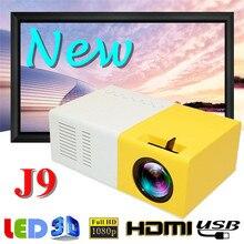 J9 Мини проектор 1080P HD проектор ультра портативные проекторы 30 тысяч часов жизни светодиодный проектор Pico поддержка сотового телефона