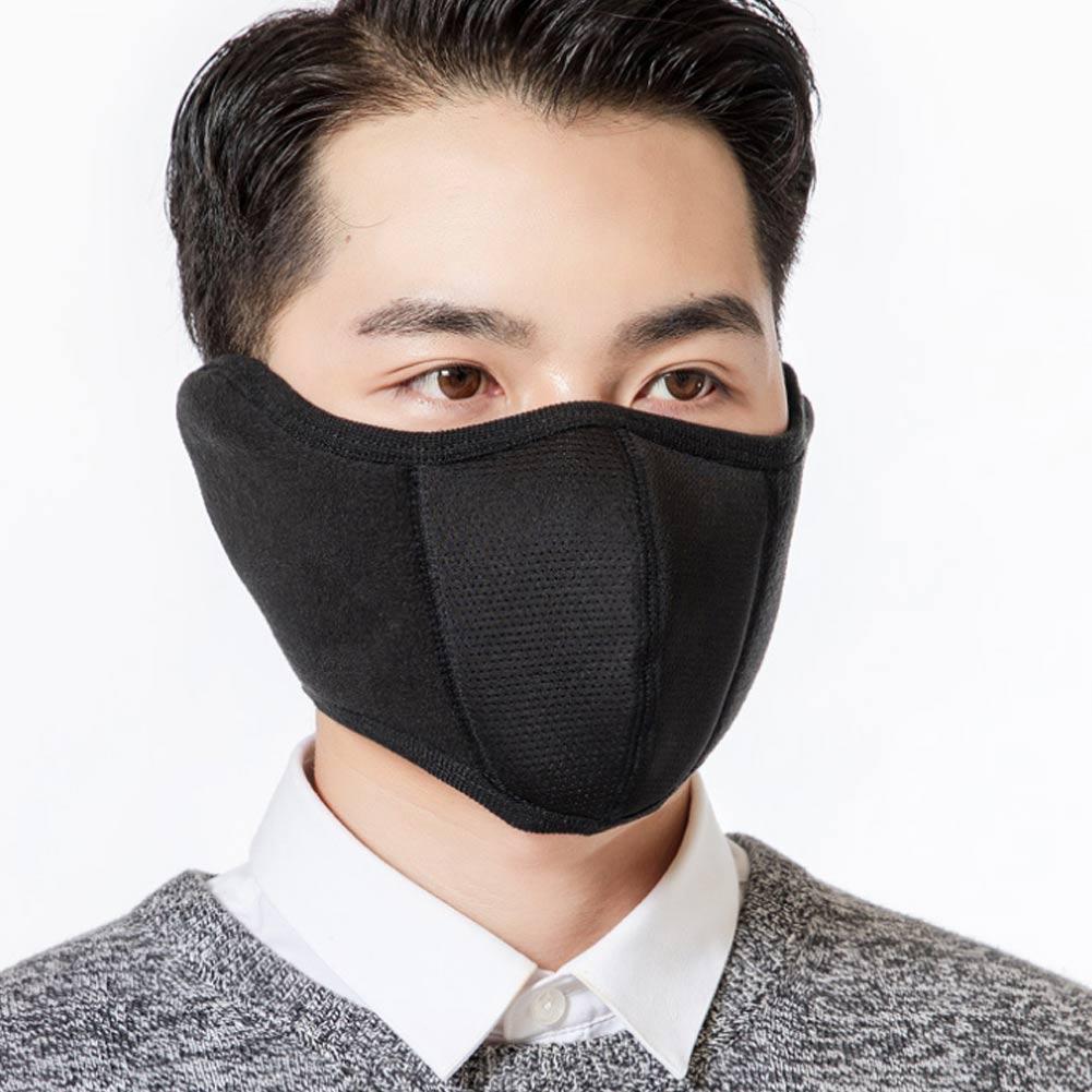 Newly Windproof Plush Mask 2019 Fashion Women Men Warming Breathable Masks Two-In-One Fleece Face Earmuffs Winter Outdoor