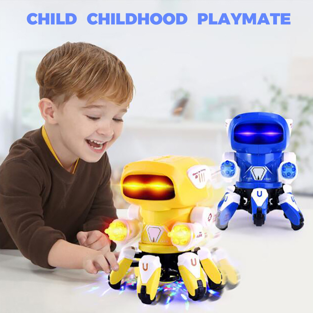 Learning Education Toys Fun Learning Toys For Children Electric Intelligent Dance Robot Music Light Best Kids Gift Toy Y1021