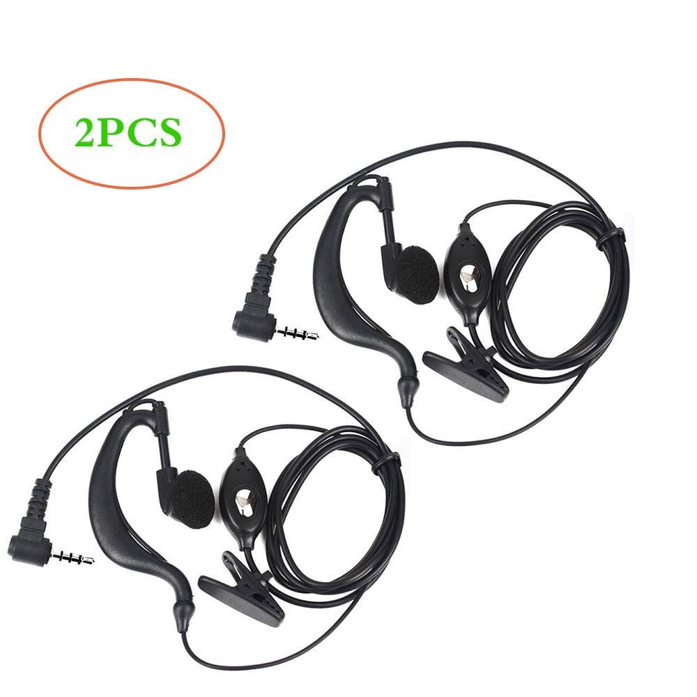 2Pcs Earpiece Headset For Bf-T1 UHF400-470 20CH Portable Ham FM CB Radio Handheld Transceiver