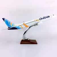 40CM airlines Aircraft 1/111 Scale FLY DUBAI Boeing B737 800 airplane Aviation airplane toys diecast plastic plane gifts kids