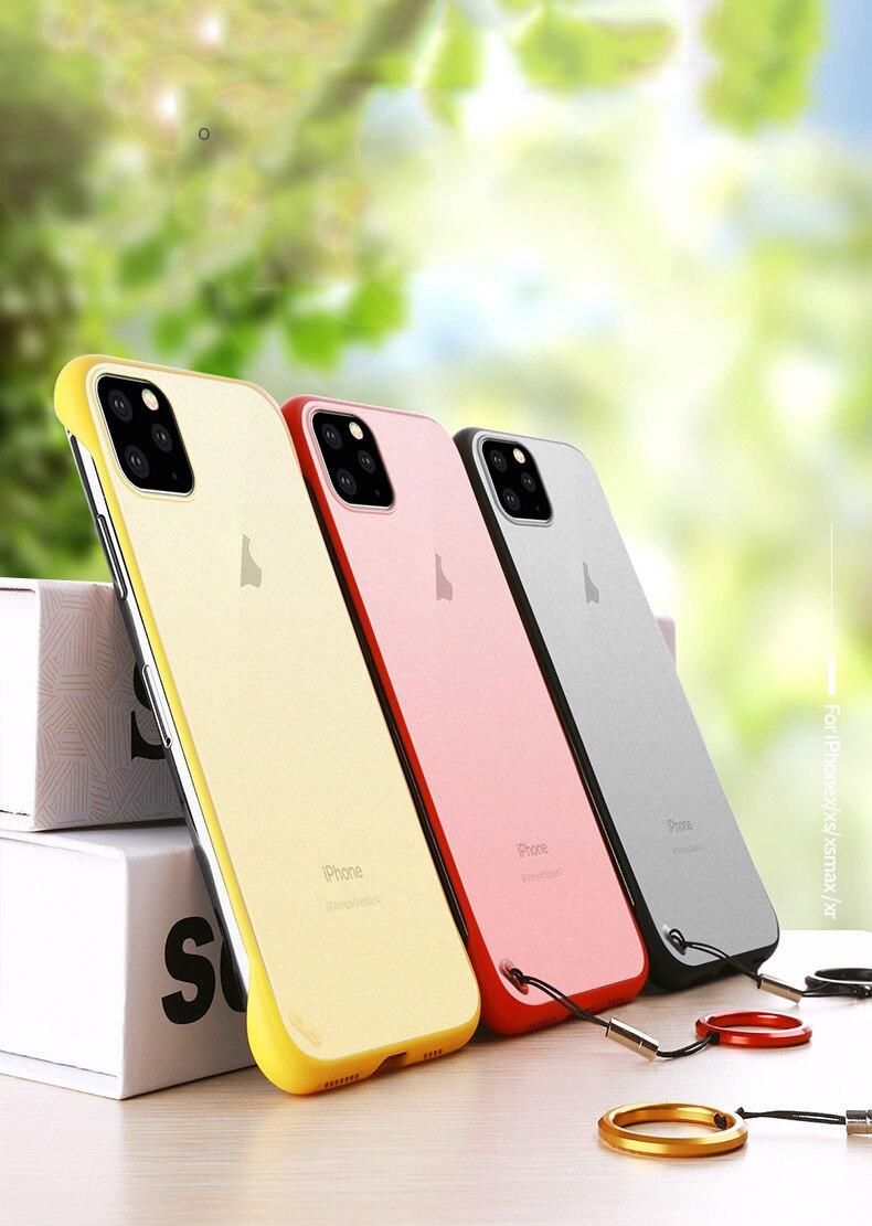 Frameless Slim Matte Hard Back Cases for iPhone 11/11 Pro/11 Pro Max 1