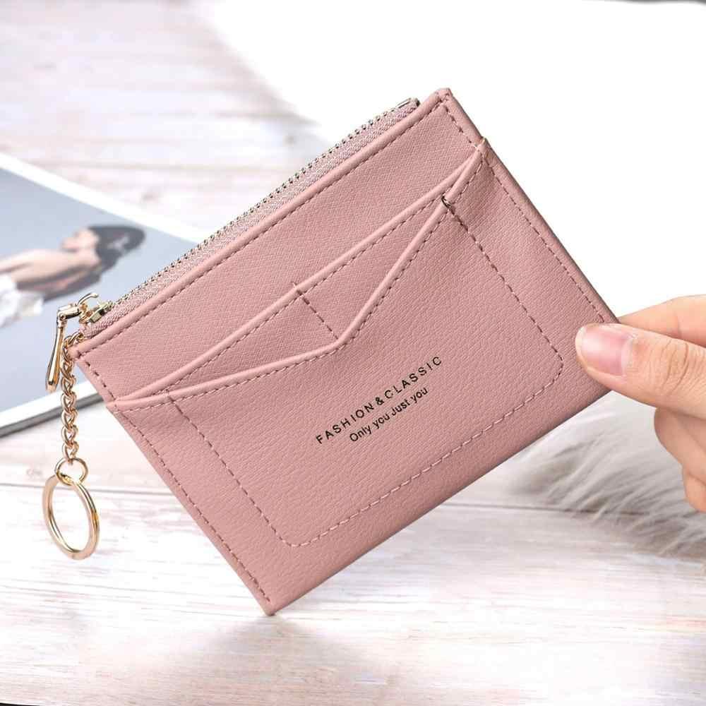 Wallet Multifunction Female Purse Card Holder Splicing Short Wallets Coin Purse