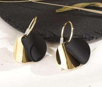 Round Vintage Drop Earrings Earrings Jewelry Women Jewelry Metal Color: H22202