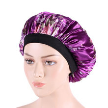 10 pcs wholesale 2017 new  Luxury Wide Band Satin Bonnet Cap comfortable night sleep hat hair loss cap turbante accessories