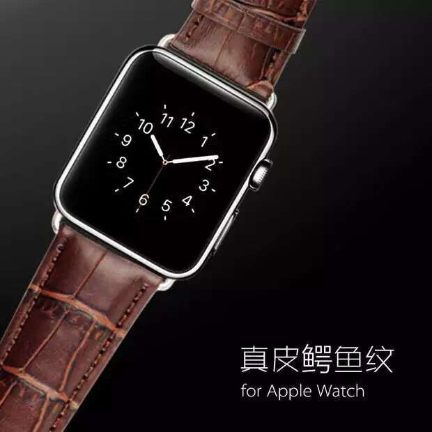 Series 5/4/3/2/1 Luxury Crocodile Genuine Leather band For Apple Watch strap 38MM 42MM 40mm 44mm,For iwatch bracelet