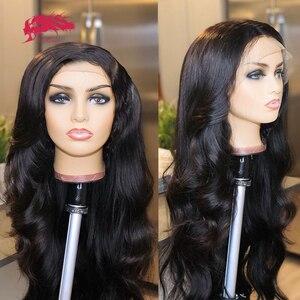 250% плотность, пользовательские парики, бразильские волнистые 13x4 прозрачные HD кружевные передние парики, необработанные человеческие волос...