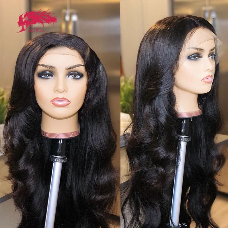 250% Density Custom Wig Brazilian Body Wave 13x4 Transparent HD Lace Front Wig One Cut Unprocessed Virgin Human Hair Wigs