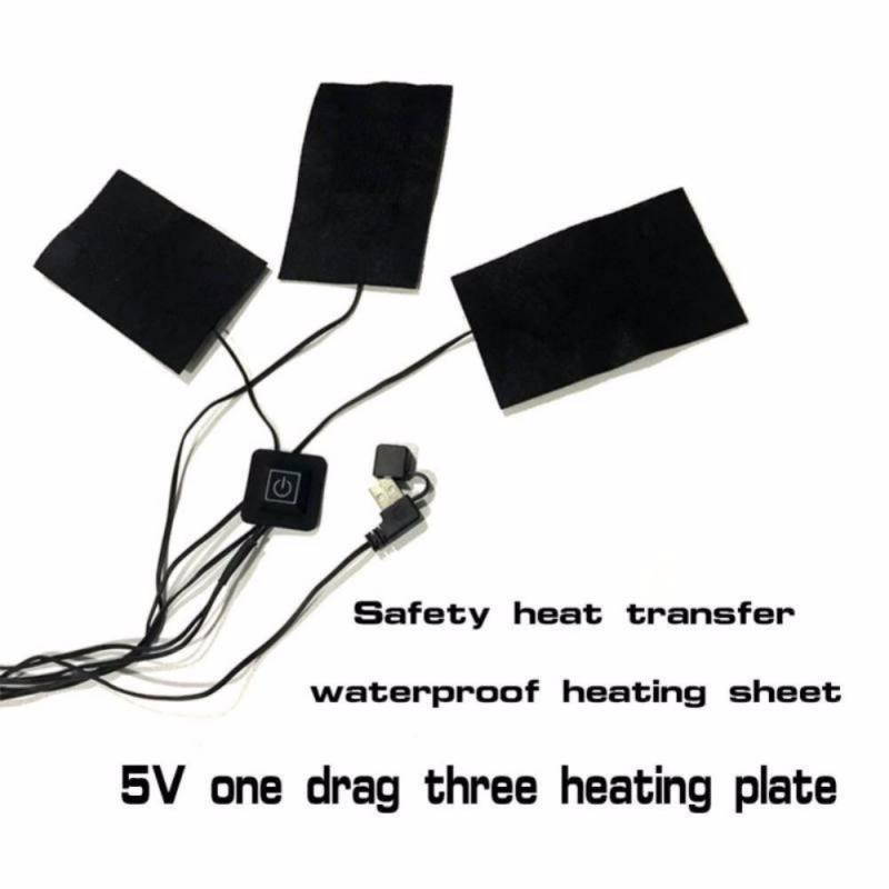 Heating Clothes Pad USB Electric Heated Pads Vest Jacket  Winter Warmer Portable Carbon Fiber Heating Pad 3 Gear Adjustable