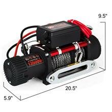 13500lb Электрическая Лебедка 12V синтетический трос Winchmax 4x4/восстановления беспроводной 93ft лебедка