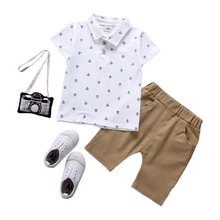 Baby Boy Clothes Summer 2019 Newborn Set Cotton Clothing (Shirt + Pants) thanksgiving