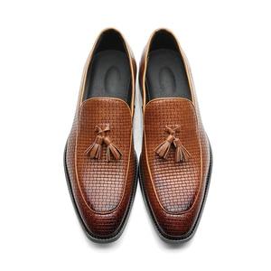 Image 3 - 37 48 גברים נעליים מזדמנים מוקסינים עור מותג נוח קלאסי יוקרה אלגנטי אופנה בתוספת גודל לנשימה לופרס גברים # b02