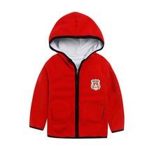 Зимние фланелевые теплые толстые парки с капюшоном для мальчиков и девочек, пальто, куртка детская флисовая верхняя одежда с капюшоном, бархатный костюм, одежда для детей от 3 до 8 лет