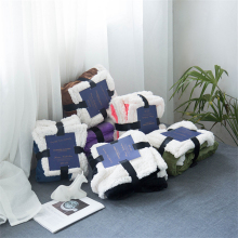 Double-Layer Small Blanket Spring Autumn Warm Nap Blanket Air-Conditioning Blanket Sherpa Blanket стоимость