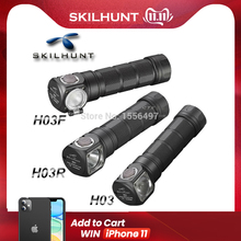 Skilhunt Headlamp Lampe-Frontale Camping-Headlight Fishing H03R Cree NEW H03F Xml1200lm