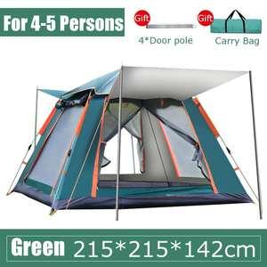 4-5 человек, автоматическая палатка, двухслойная водонепроницаемая палатка для кемпинга, пешего туризма, 4 сезона, большие Семейные палатки
