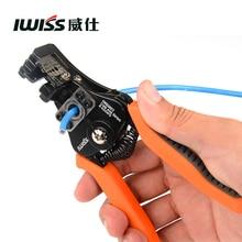 Alicates de pelado Manual IWISS alicates multifunción para electricista, rango de pelado 0,35-8.2mm2