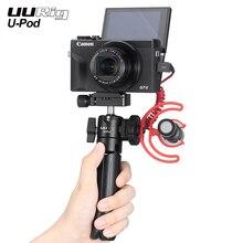 UURig soporte portátil para Vlog, trípode con mango para cámara Sony/Canon, sin micrófono, Zapata fría
