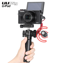 UURig u pod soporte portátil para Vlog, trípode con mango para Sony/Canon, cámara sin espejo con zapata fría para micrófono