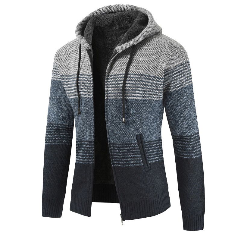 Thick Warm Hooded Cardigan Sweater 10