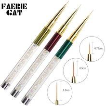 1 шт ручки для вытягивания ногтей красочные акриловые гелевые